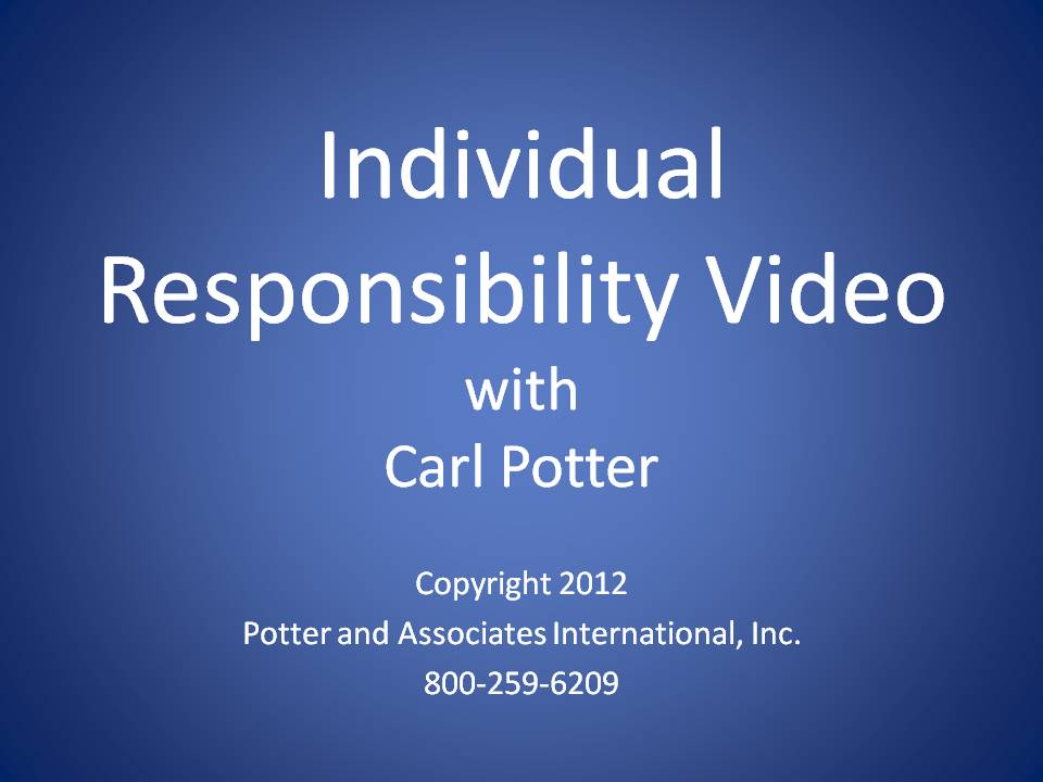 Individual Responsibility Video title page