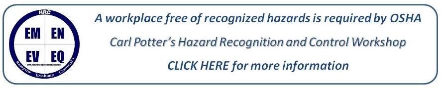 A workplace free of recognized hazards is required